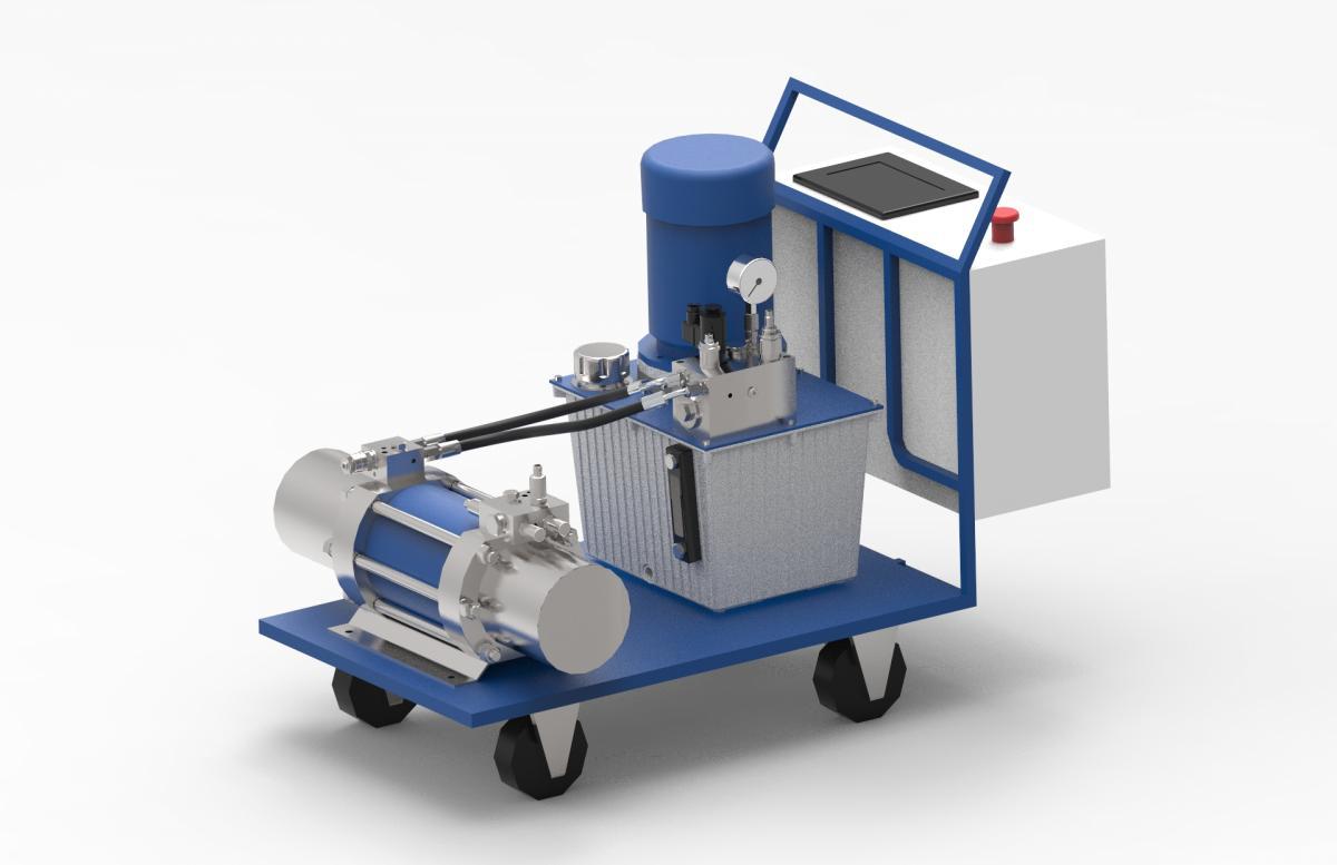 Urządzenie do ładowania akumulatorów hydraulicznych z wysokim ciśnieniem