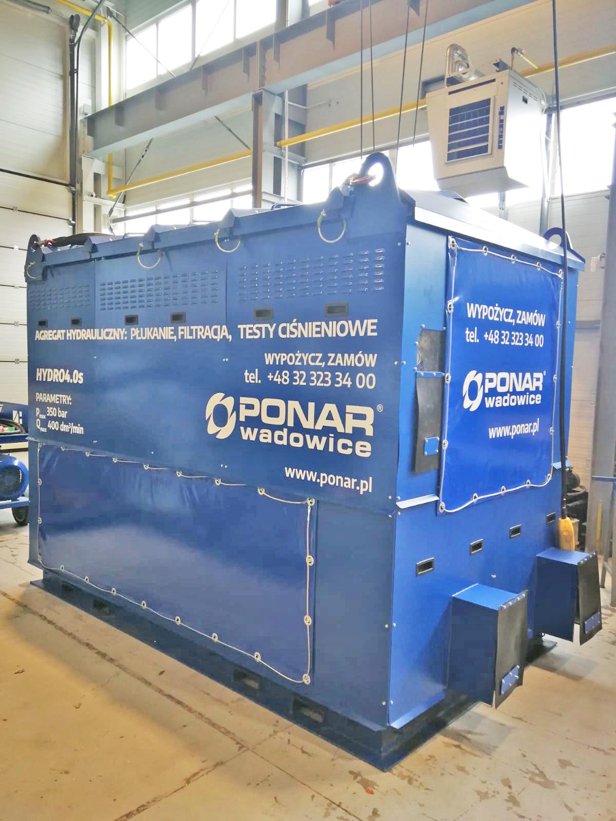 HYDRO4.0s - agregat hydrauliczny do płukania, filtracji i testów ciśnieniowych