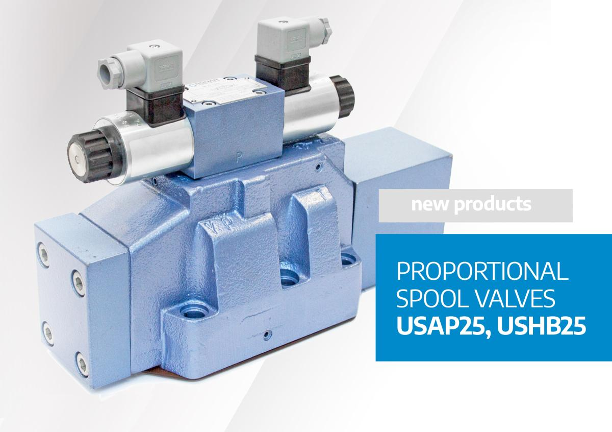 Proportional spool valves USAP25 andUSHB25 - new products