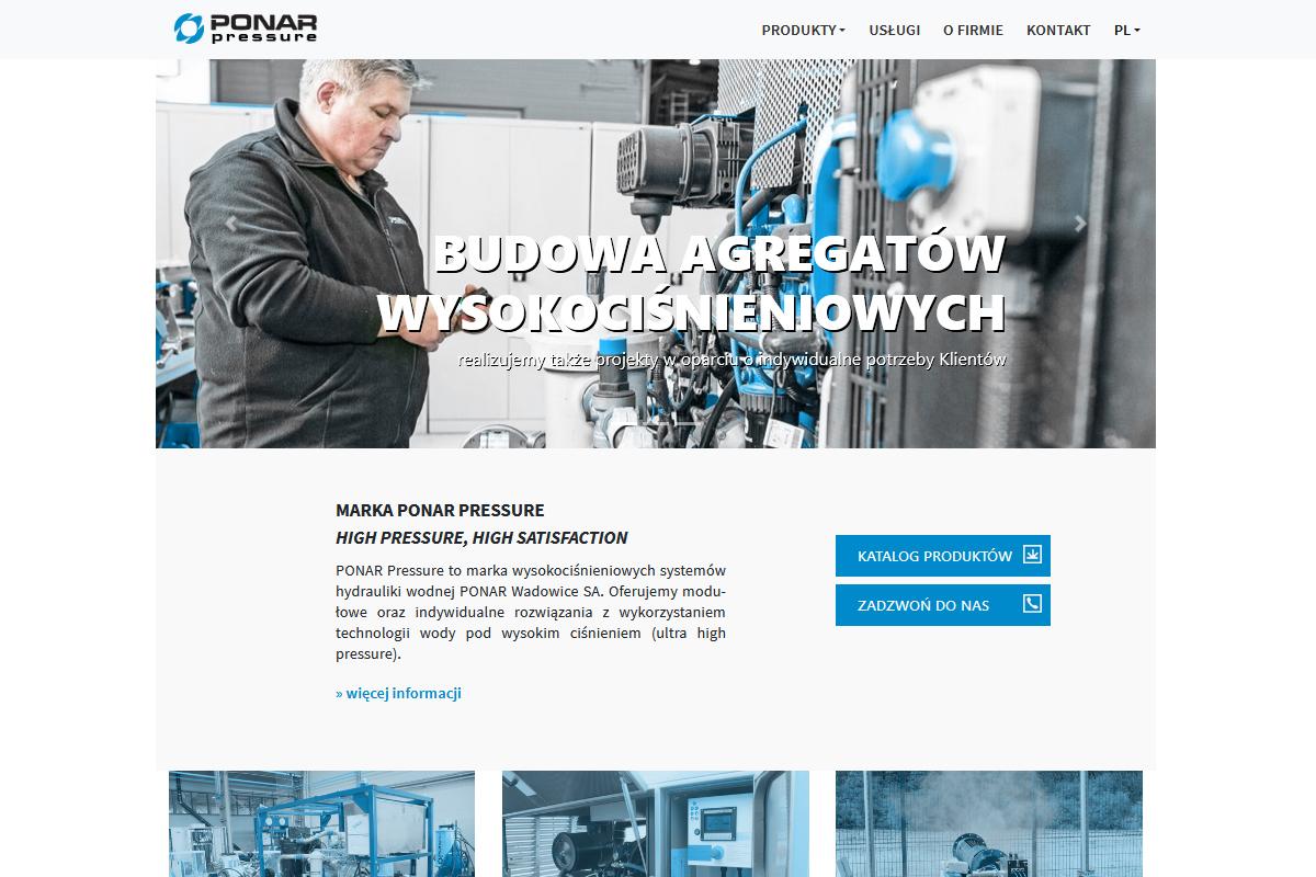 Nowa odsłona www.ponar-pressure.pl