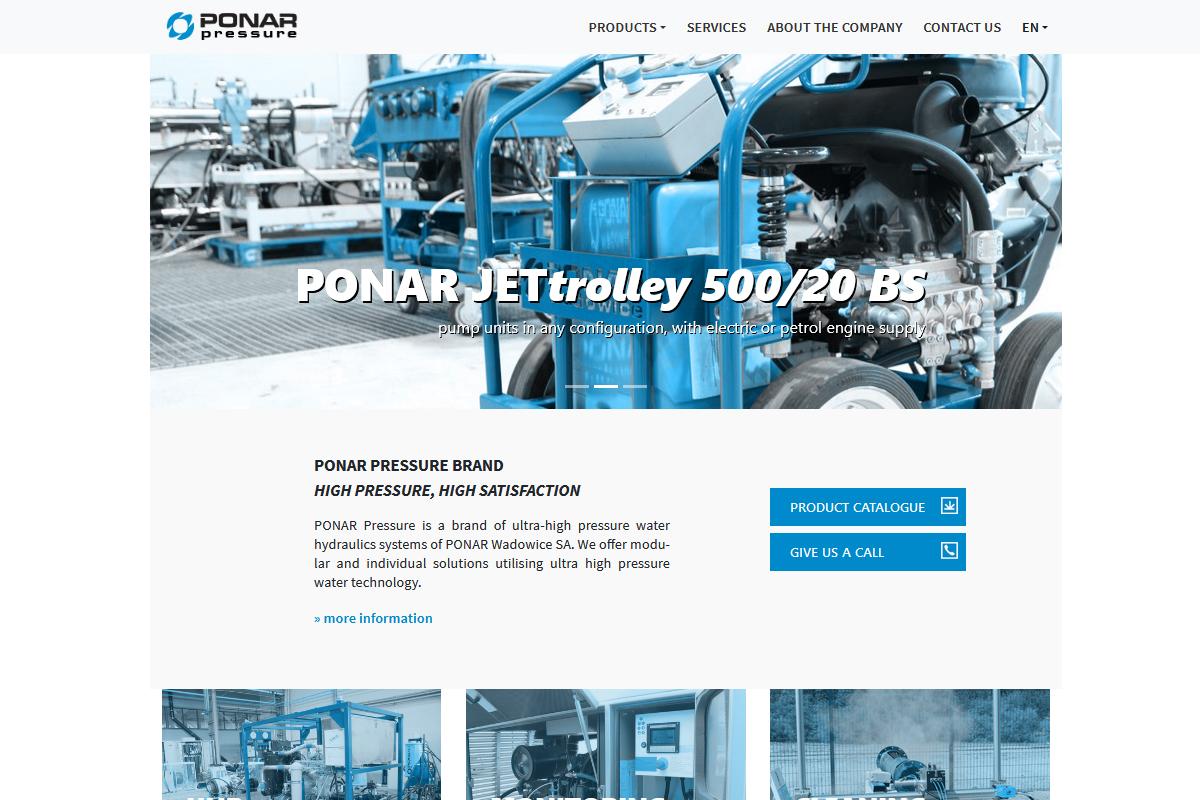 A brand new ponar-pressure.pl website