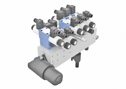 Special Block ZS 396/... for application in mobile machinery and construction machinery industry