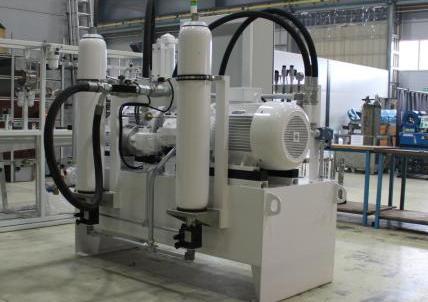 Układ hydrauliczny do kokilarek MDC