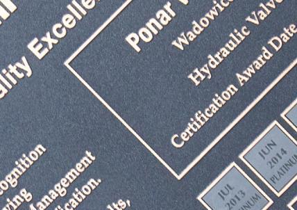 Caterpillar Platinum Certificate for PONAR, third time in a row