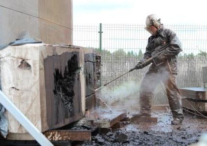 Brown coal hydo-cutting tests