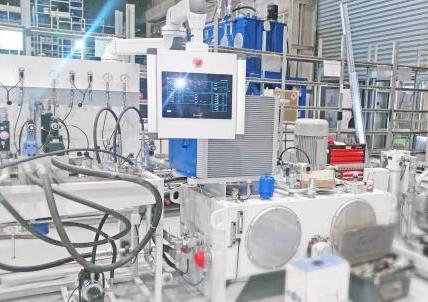 Stacja prób do przeprowadzania testów podzespołów hydraulicznych
