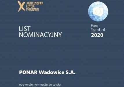 Nominacja do tytułu EuroSymbol Innowacji 2020