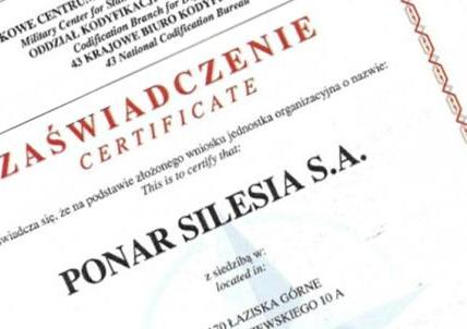 NATO code for PONAR Silesia