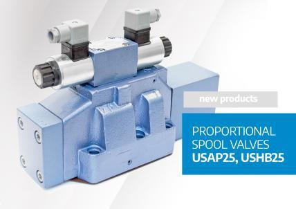 Proportional spool valves USAP25 and USHB25 - new products