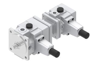 Pumps and motors pumps vane pumps by PONAR Wadowice S.A. variable displacement, pumps assembly  V3+V3