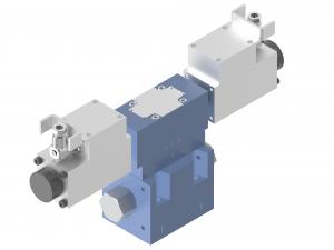 Rozdzielacze suwakowe płytowe (CETOP), proporcjonalne, iskrobezpieczne sterowane pośrednio elektrycznie proporcjonalnie  ISAP10