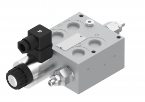 Directional control valves  directional control valves  threaded  electrically controlled with a croos-over valve