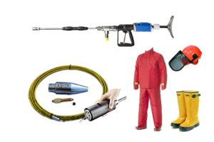 High pressure water systems brak brak accessories  akcesoria, dysze, węże wysokociśnieniowe