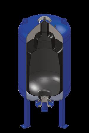 Akumulatory i bloki zabezpieczenia akumulatory pęcherzowe niskociśnieniowe o dużej pojemności  ASE