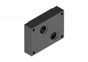 Płyty przyłączeniowe CETOP do zaworów sterujących przepływem brak  G281/01, G282/01
