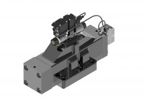 Rozdzielacze  suwakowe  płytowe (CETOP) proporcjonalne  sterowane pośrednio ze zintegrowaną elektroniką oraz czujnikiem położenia tłoczka