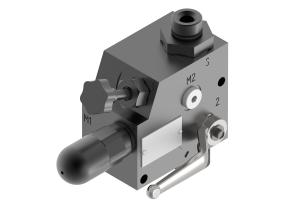 Akumulatory i bloki zabezpieczenia  bloki zabezpieczenia akumulatora    zabezpieczenia i odcinania akumulatora hydraulicznego   UZAE
