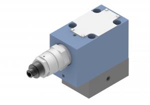 Zawory sterujące ciśnieniem  odciążające  płytowe/gwintowe/nabojowe  sterowane pośrednio   UZOP