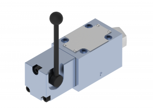 Directional control valves  directional control valves  subplate (CETOP), on-off  manually controlled with a lever